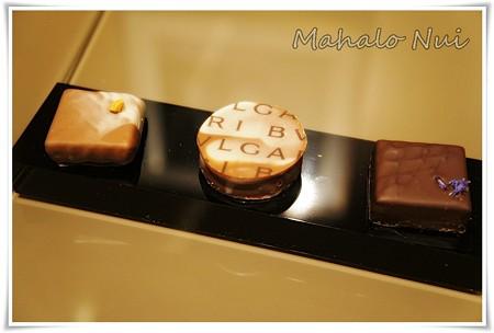 ブルガリのチョコレート3種盛り