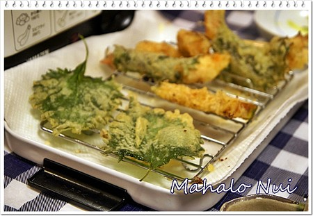 大葉の天ぷらも大葉巻き海老ちゃんも