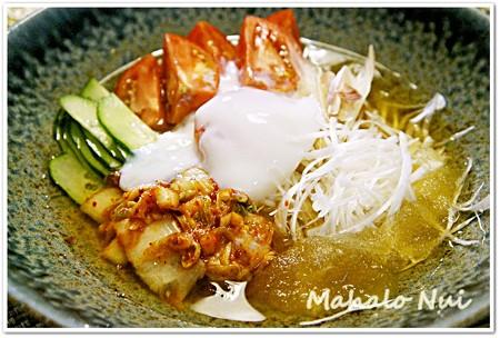 シャリシャリ氷の冷麺の出汁