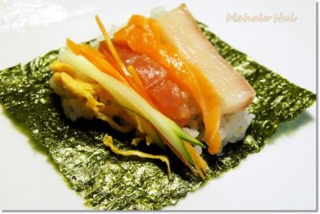巻いて巻いて手巻き寿司〜♪