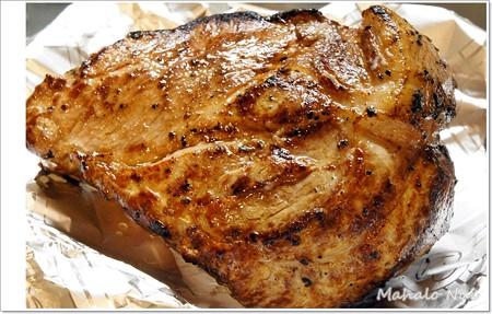 豚肉が焼きあがりました。