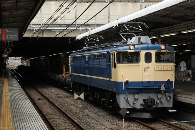 EF65ー1105号機 新津工臨返空12B