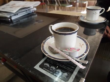 インベーダー台で頂くコーヒー