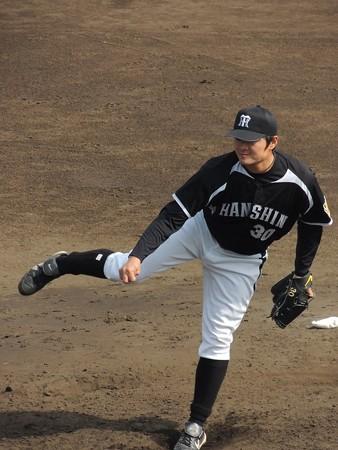 阪神の久保田投手(イマイチでした)。
