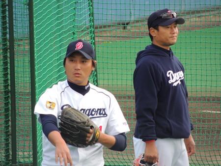 005 小熊と小笠原コーチ