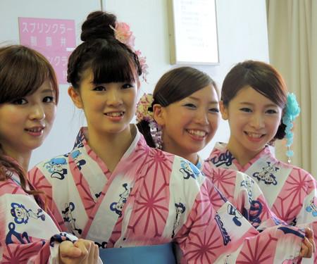 022 浴衣娘四人(畄ω畄)