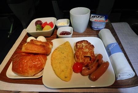 デルタ航空ビジネスクラス朝食