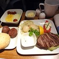 写真: デルタ航空ビジネスクラス朝食