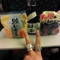 何はともあれ、とりあえず一杯 in新大阪からのひかり。中指の指輪は、オーストラリアのマーケットで見付けた新入り☆100前のスプーンやフォークをリメイクしたハンドメイド品♪
