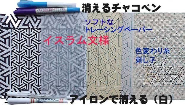 Needlework of the Islamic pattern;イスラム文様の刺し子