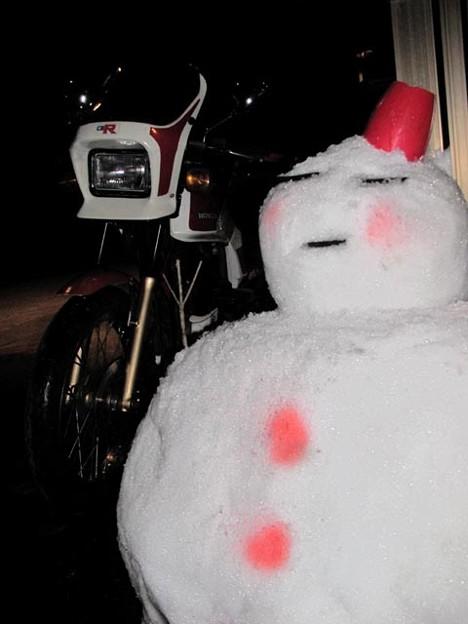 メタボの雪ダルマ