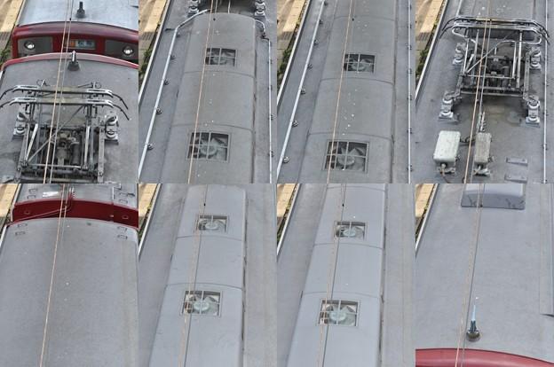 近鉄1440系1440F(VW40)屋根上(名古屋方より撮影) 2012.10.11