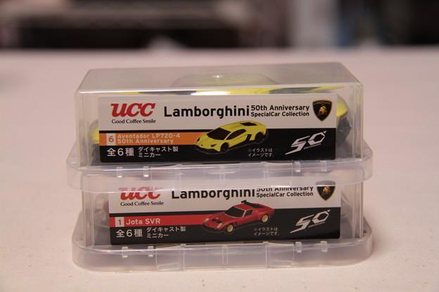 UCC Lamborghini 50th Anniversary SpecialCar Cokkectionの2台
