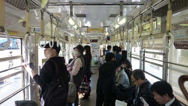 都電荒川線7000形の車内(1)