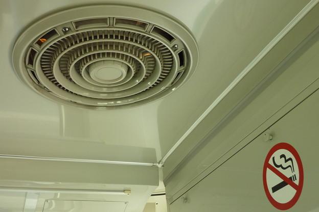 Photos: 天井のファンは…