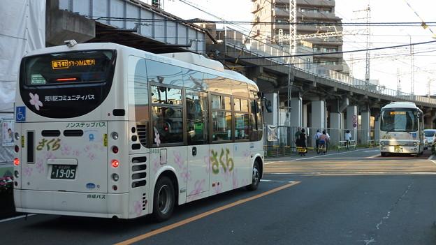 夕方の京成町屋駅前にて