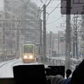 Photos: 大雪の中を走る?
