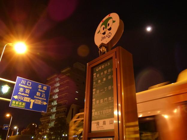 Photos: 夜のバス停にて…
