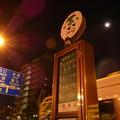 夜のバス停にて…