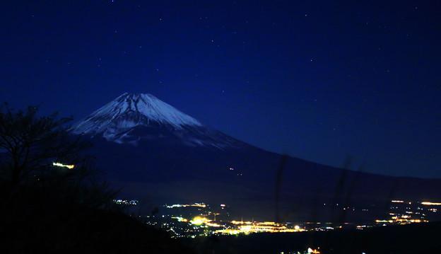 月明かりの富士