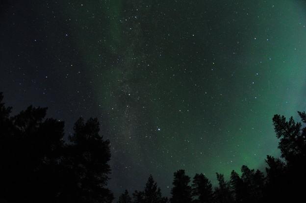 オーロラと北斗七星と天の川と・・・