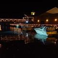 夜の船着場