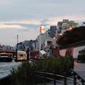 日没前の吾妻橋水上バス