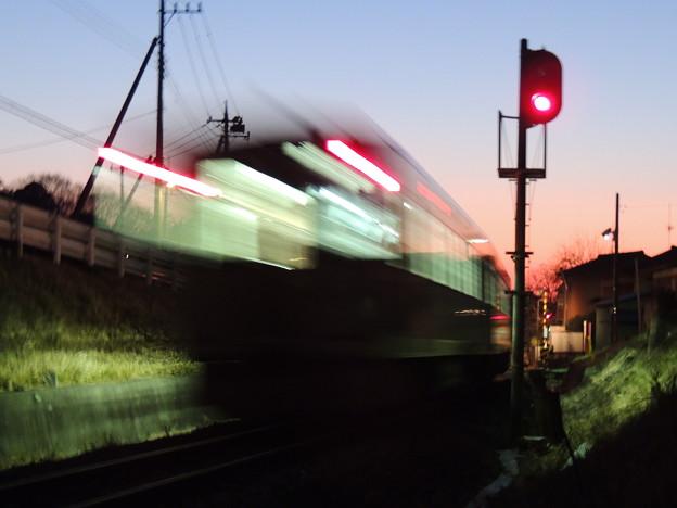 Photos: 朝焼け一番列車