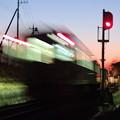 朝焼け一番列車
