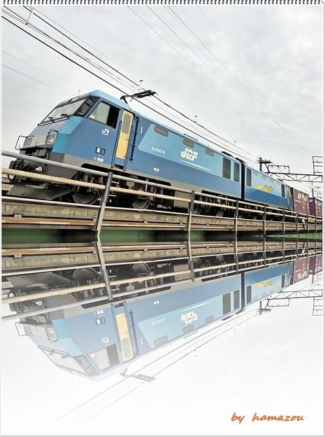 Photos: 機関車(水彩画風)