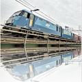 機関車(水彩画風)