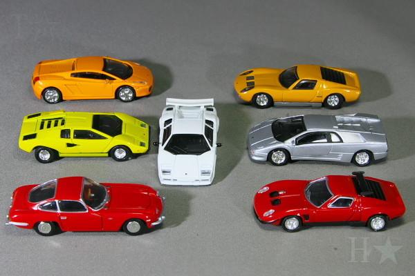 1 72 Lamborghini 7set Collection Miura Countach Diablo Gallardo Jota No Tomica Ebay