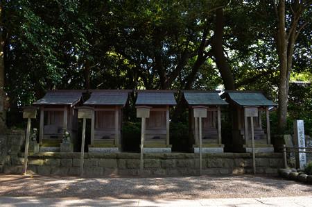 酒列磯前神社・稲荷神社、天満宮、事比羅神社、冨士神社、水神社