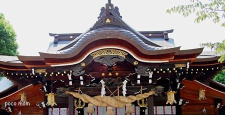 櫛田神社 拝殿唐破風
