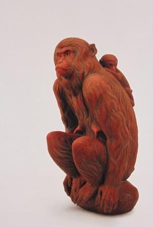 三輪途道 かあちゃん猿2012年11月18日_PB181188