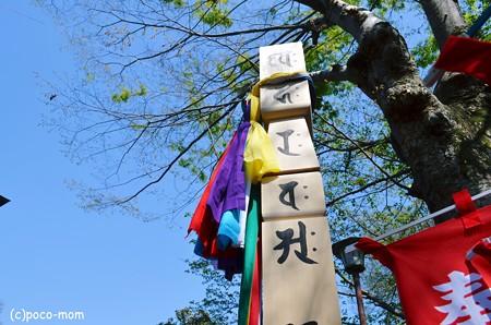 井の頭弁財天ご開帳 回向柱と五色の縷2013年04月13日_DSC_0417