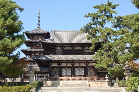 法隆寺中門・五重塔