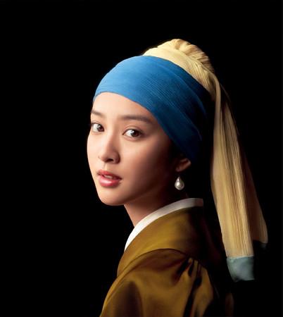 フェルメールの「真珠の耳飾りの少女」に扮した武井 咲さまっ