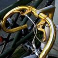 金色のハンドル