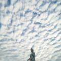 うろこ雲と観音