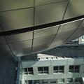 東京お台場のフジテレビの建物の球体の上から下を覗いてみた