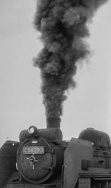 C58の立ち上る黒煙(昭和40年代初頭)