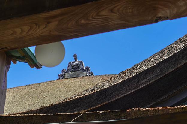 京都清水寺の鬼瓦