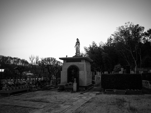 八王子両輪山龍谷寺の大谷観音2013/02/26monochrome