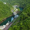 宮ヶ瀬ダムからの俯瞰
