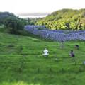 沖縄の今帰仁城跡diorama