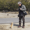 Photos: 兎と記念撮影