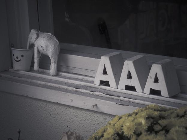 Photos: AAAギャラリーの「看板」