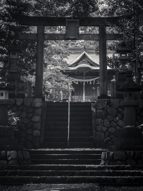 Photos: 階段の上に結界が