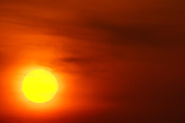 燃える太陽